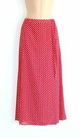 Red White Dot Polka GERRY WEBER Wrap Look Pleated Ladies Women's Skirt UK 12 14