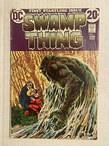 Swamp Thing 1 DC 1972 Origin , First Appearance Alex Holland
