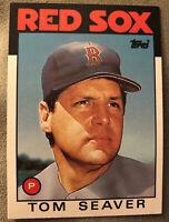 1986 Topps Traded Tom Seaver Baseball Card Red Sox #101T High-Grade