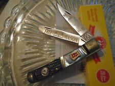Kissing Crane Limited Mason Masonic Pearl 2 Blade Trapper Pocket Knife 5407 New