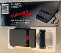Sharp JC-K15G(GY) Stereo Cassette Player- Durasilk Feel - Rare- New