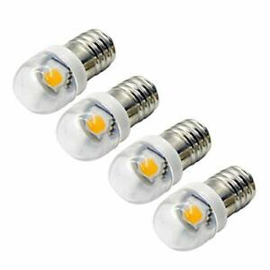 4pcs E10 LED Bulb 0.6W 5050 1SMD 6000K LED Replacement Bulb Upgrade 3V White