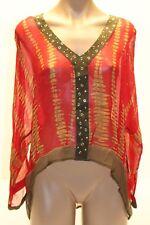NWT Michael Kors Swimwear Cover up Shirt Chilli Long Sleeve Sz XS/S Red