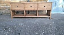 BESPOKE H70 W150 D45 TV entertainment unit 3 Drawers shelf and warm oak waxed
