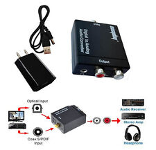 Toslink Signal Optical Coaxial Digital to Analog Audio Converter Adapter RCA 3.5