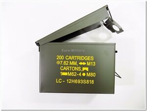 US Ammo Cans Steel Box 30 Cal Nato Standarts 200 M19A1 - Factory New