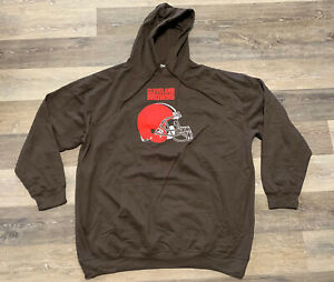 Cleveland Browns Majestic NFL Critical Victory Sweatshirt Hoodie Size 3XLT Tall