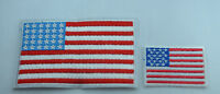 2x US USA FLAG AMERICA Embroidered Iron Sew On Cloth Patch Badge Applique