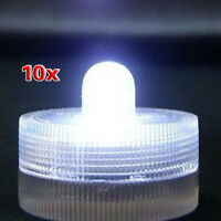 Submersible Battery LED 10 Lights~WHITE~wedding~tea Light W1J5