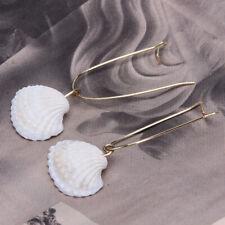 Bohemian Women Natural Sea Shell Conch Dangle Drop Ear Stud Earrings Jewelry MH
