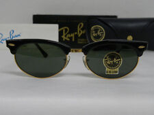 New Vintage B&L Ray Ban Clubmaster Oval Wayfarer Set Black W1263 Sunglasses USA
