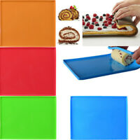 Kitchen Non-Stick Oven Rolling Pad Silicone Swiss Cake Mat Roll Mold Baking Tray