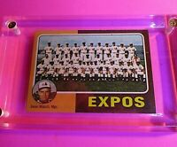 1975 Topps #101 Montreal Expos Team CL/ Gene Mauch Mgr NmMt High Grade
