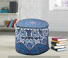 Mandala Pouf Ottoman Round Indian Ottoman Cover Pouffe Foot Stool Cover Decor