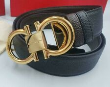 Salvatore Ferragamo belt with classic golden tone Gancini buckle