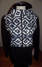 NWT Women's The North Face Denali 2 Hoodie Jacket Polartec Print & Black XL $199