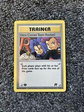 Trainer Here Comes Team Rocket - 71/82 1st Edition NM Rare Non-Holo Pokemon Card
