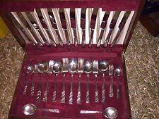 Calidad Viners extra Plata 56pc Cantina De Cuchillería c1960-Plata Rose