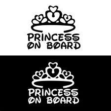 1Pc PRINCESS ON BOARD Baby Child Window Bumper Car Sign Decal Sticker 17*14cm YX