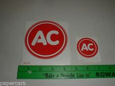 AC Delco Batteries GM New Original Auto Drag Racing Sticker Decal red circle X2