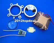 1pcs 10W Cool White High Power LED + 10Watt Driver + 44mm Lens+10w Heatsink DIY