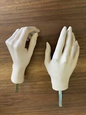 Vintage PAIR of Female Mannequin HANDS LEFT RIGHT