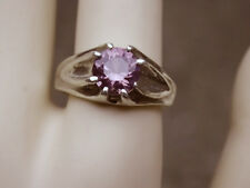 2ct purple raspberry alexandrite 925 sterling silver gypsy ring size 9 USA