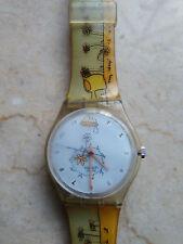 """orologio swatch STANDARD GENT modello """"FLOWER TALK""""GK 312 anno 2000 USATO RARO"""