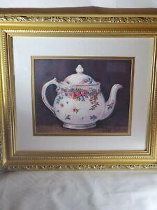 Vintage Barbara Mock Teapot Painting Framed