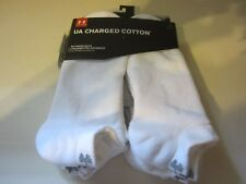 Under Armour 3333 Charged Cotton No Show 6 Pack white socks sz L