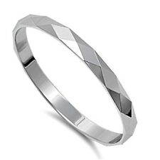 .925 Sterling Silver Ring size 3 Diamond Band Kids Ladies Midi Knuckle New pp14