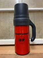 Vintage Country Mark Co Op Metal Thermos Old Gas Oil Farm Advertising