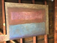Mark Rothko Style Original Oil On Canvas 3x4' Signed Untitled