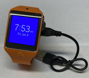 Samsung Gear 2 Neo Smartwatch SM-R381 Orange With Charger Excellent Condition!
