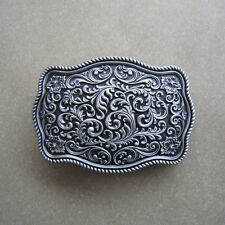 Original Western Flower Pattern Belt Buckle Gurtelschnalle also Stock in US