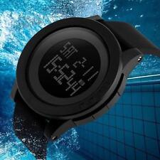 Resistente Al Agua Hombre Fecha Goma Reloj Deportivo Militar Digital Cuarzo