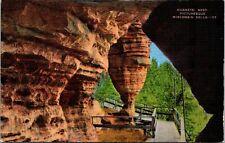 Hornet's Nest Picturesque Wisconsin Dells Wisconsin Linen Postcard