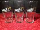 Set Of 3 Batch 19 micro brewery beer glasses Pre-Prohibition style lager bar E