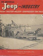 1947 JEEP in INDUSTRY, Willys-Overland Motors Inc Toledo Ohio, promo brochure