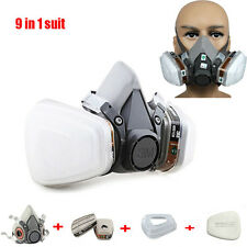 9 in 1 Paint Spray For 3M 6200 half face Gas Mask Respirator Facepiece+ 6001cn