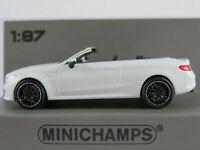 Minichamps 870 037031 Mercedes-AMG C63 Cabriolet (2019) in weiß 1:87/H0 NEU/OVP