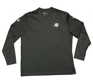 Nike Miami Dolphins On field UV Long Sleeve Shirt UPF 40+ Dark Gray 2XL