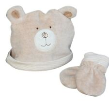 Natures Purest Hug Me Bear Hat & Mitts 0-6 Months (0046)