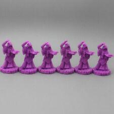 Cthulhu Wars Lot of 6 Purple CULTIST Miniature Figures UU08