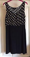 AX Black Spotty Dress, Size 14 - Super!