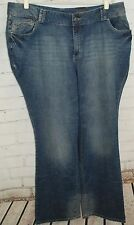 """NEW! LANE BRYANT Distinctly Boot Blue Dot Right Fit Size 22 Tall x 35"""" Inseam"""