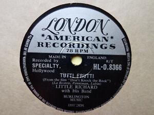 LITTLE RICHARD - Tutti Frutti / Long Tall Sally 78 rpm disc (A++)