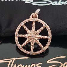 THOMAS SABO ❤ Glück Karma Wheel rosa Kette Anhänger 925 Silber rose gold NEU