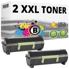 2 XL TONER für LEXMARK MS310d MS310dn MS312dn MS410d MS410dn MS415dn MS510dn