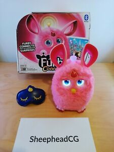 Furby Connect Pink with Sleep Mask - Boxed, VGC & Tested! Electronic Pet